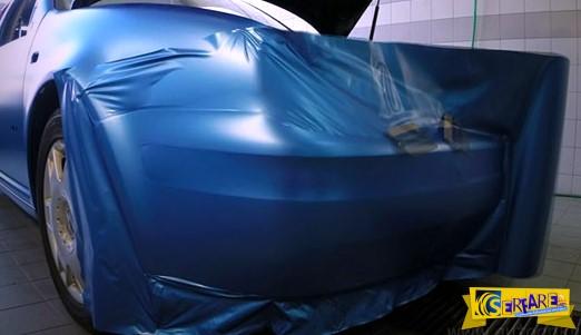 Δείτε πως «τυλίγεται» ένα αυτοκίνητο μέσα από αυτό το απίστευτο βίντεο!