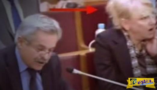 Πολύ γέλιο: Δείτε τη Φωτεινή Πιπιλή να είναι σκνίπα μέσα στη Βουλή!