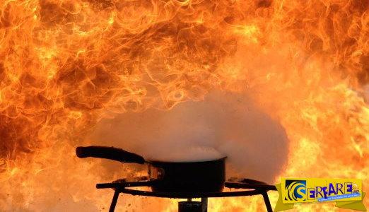 Τι θα συμβεί αν σβήσετε με νερό την φωτιά σε ένα τηγάνι με καuτό λάδι;