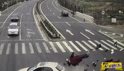 Τρομακτικό τροχαίο στην Κίνα!