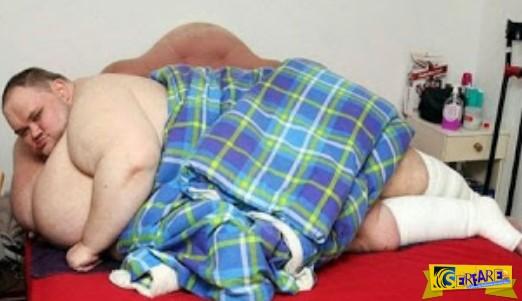 Τραγική ιστορία: Ο άνθρωπος που ζυγίζει 413 κιλά - Δείτε πώς ήταν προηγουμένως!