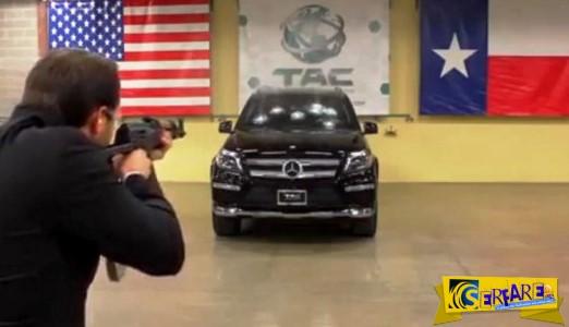 Δεν θα πιστεύετε στα μάτια σας τι έπαθε μια θωρακισμένη Mercedes όταν τη πυροβολήσαν με καλάσνικοφ!