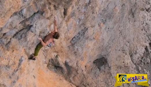 Κάλυμνος: Σοκαριστικό βίντεο από πτώση αναρριχητή!