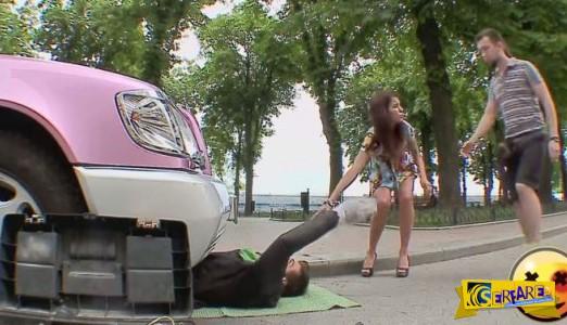Προσπάθησαν να τον βγάλουν κάτω από το αυτοκίνητο και του έβγαλαν τα χέρια!