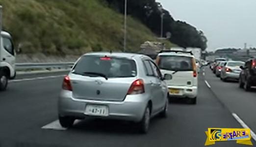 Έτσι λένε ευχαριστώ οι Ιάπωνες οδηγοί όταν τους αφήνεις να περάσουν!