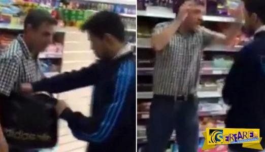 Καταστηματάρχης έπιασε ΚΛΕΦΤΗ στο μαγαζί του και είπε να του δώσει ένα μάθημα!