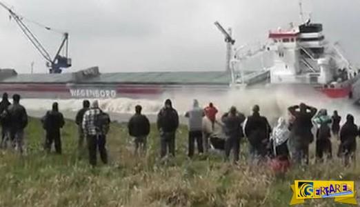 Αυτή η καθέλκυση του πλοίου… είχε ένα ΑΠΙΣΤΕΥΤΟ απρόοπτο!