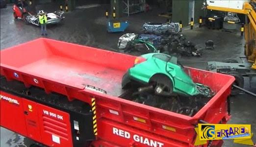 Δείτε πως ένα αυτοκίνητο γίνεται θρύψαλα σε δευτερόλεπτα!