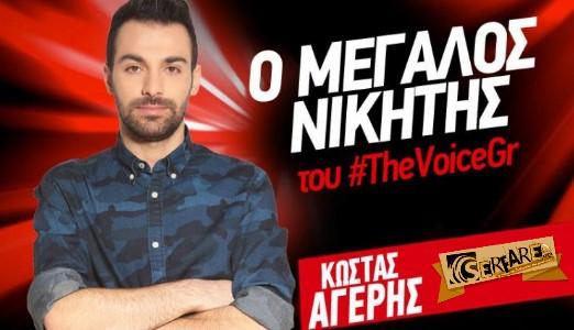 """Κώστας Αγέρης: Το χρονικό της μεγάλης νίκης του στο """"The Voice"""""""