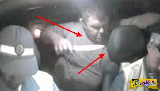 Σοκαριστικό βίντεο: Μεθυσμένος οδηγός μαχαιρώνει τους αστυνομικούς που τον συνέλαβαν!