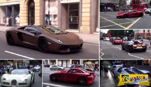 Όταν οι Άραβες μεγιστάνες αποφασίζουν να πάρουν τα οχήματα τους στο Λονδίνο!