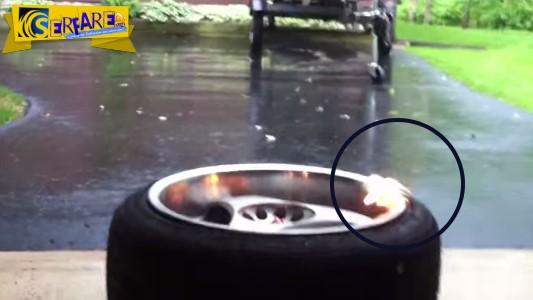 Απίστευτος τρόπος για φούσκωμα λάστιχου με φωτιά!
