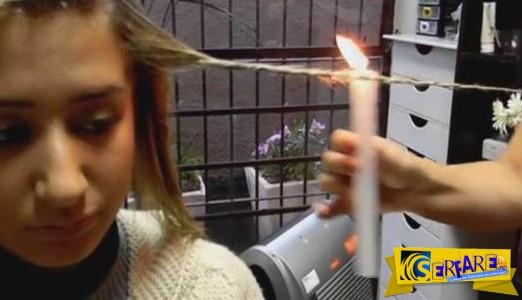 Καίει το μαλλί της! Ο λόγος; Δείτε το βίντεο!