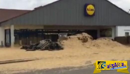 Δείτε τι έκαναν οι αγρότες στη Γαλλία έξω από τα LIDL με τα τρακτέρ!