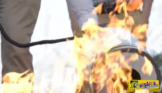 Απίστευτο! Σβήσιμο φωτιάς με ηχητικά κύματα!