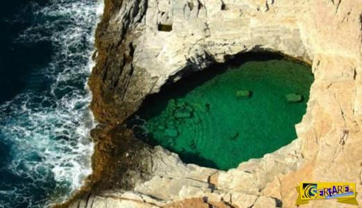 Το δάκρυ της Αφροδίτης: Η φυσική πισίνα που τη χωρίζουν μερικά εκατοστά από την θάλασσα!