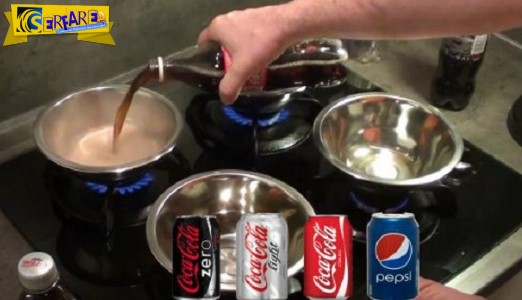 Άρχισε να βράζει Coca cola, Pepsi, Coca Cola Zero και light και δείτε πόση ζάχαρη έβγαλαν!