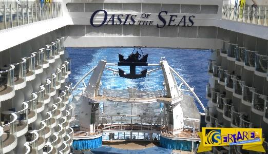 Oasis Of The Seas: Το μεγαλύτερο κρουαζιερόπλοιο στον κόσμο, ζυγίζει 226.000 τόνους και είναι πιο φαρδύ από ένα Boeing 747