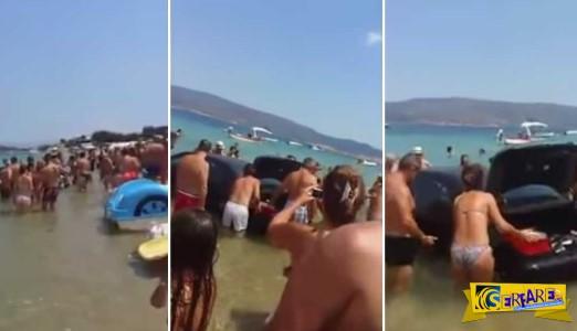 Γυναίκα οδηγός έριξε μια BMW μέσα στη θάλασσα στη Χαλκιδική!