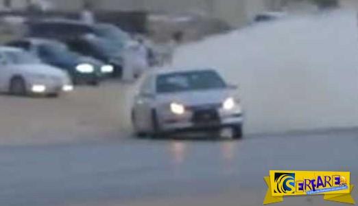 Τρελοί Άραβες οδηγούν ανάποδα τραβάνε χειρόφρενα κάνουν μπαντιλίκια και πυροβολούν στο αέρα!