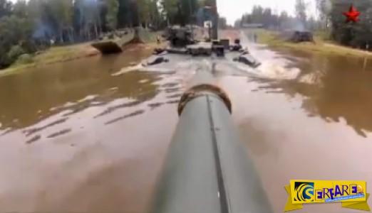 """Όταν το άρμα μάχης γίνεται """"υποβρύχιο"""" - Δείτε το ρωσικό Τ- 90"""