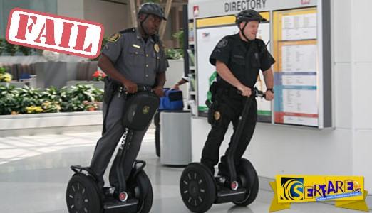 Απίστευτες τούμπες από αστυνομικούς που προσπαθούν να… δαμάσουν το νέο τους όχημα!