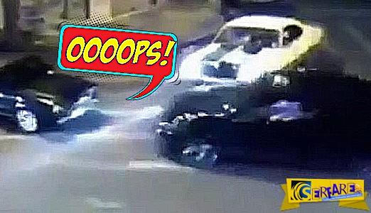 Τι γίνεται όταν ένας τρελός οδηγός συναντάει έναν πιο τρελό;