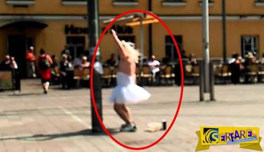 Έβαλε κάτι …ανάλαφρο και βγήκε να χορέψει στην πλατεία!