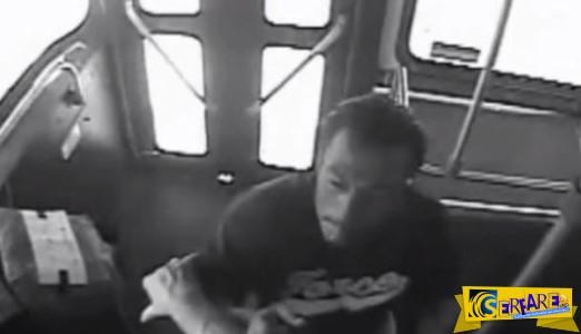 Επιβάτης ρίχνει «μπουκέτα» σε οδηγό λεωφορείου χωρίς λόγο και αιτία! Ξέρει αυτός ...