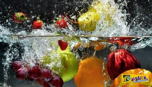 Φυτοφάρμακα: Πώς να τα αφαιρέσετε εύκολα από φρούτα και λαχανικά