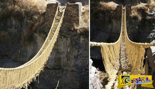 Η πιο τρομακτική γέφυρα του κόσμου: Aνακατασκευάζεται κάθε χρόνο και είναι φτιαγμένη από… σχοινί!