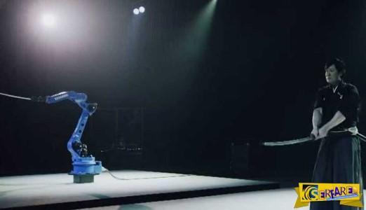 Μια απίστευτη μονομαχία μεταξύ ενός σαμουράι και ενός… ρομπότ!