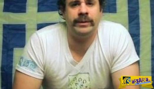 """ΑΥΤΟΣ είναι ο """"Ελληνάρας"""" με μουστάκι και κομπολόι που δίνει τη δική ξεκαρδιστική εξήγηση για την κρίση"""