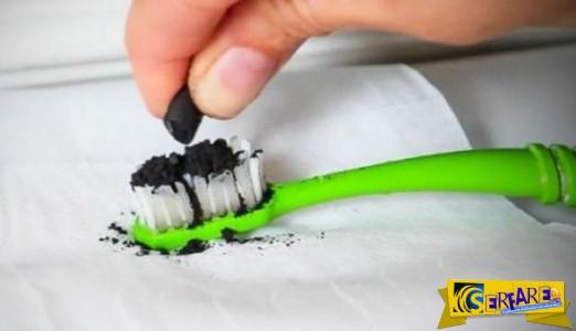 Έβαλε αυτή τη μαύρη σκόνη στην οδοντόβουρτσα και βούρτσισε τα δόντια της! Το αποτέλεσμα; ΚΑΤΑΠΛΗΚΤΙΚΟ!