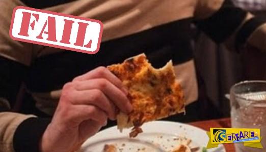 ΣΑΡΩΝΕΙ: Το παλικάρι παρήγγειλε μια πίτσα για να φάει - Δείτε τι έπαθε...