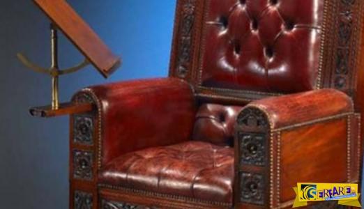 Αυτή η πολυθρόνα του 1880 κάνει παραπάνω πράγματα από ότι νομίζετε!