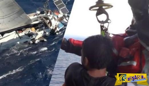 Συγκλονιστικές εικόνες από διάσωση Super Puma στη Χίο!