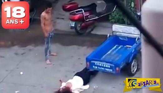 Σύζυγος σαπακιάζει την γυναίκα του στο ξύλο και στο τέλος τις τρώει από εξοργισμένους περαστικούς! (+18)