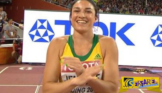 Ο «τσαχπίνικος» χορός αθλήτριας πριν την εκκίνηση που κάνει τον γύρο του κόσμου!