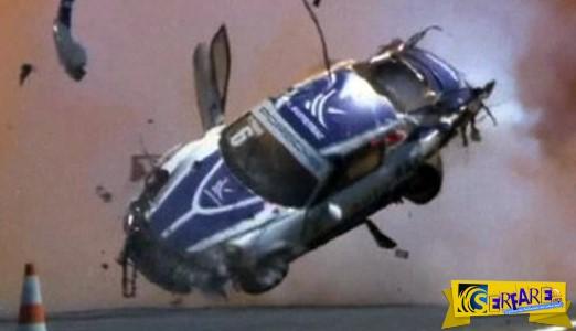 Αυτοκίνητο γύρισε εννέα φορές στον αέρα σε μια θεαματική συντριβή!