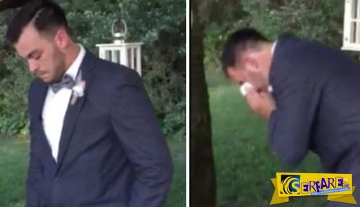 Ένα σπάνιο περιστατικό - Δείτε πως αντέδρασε ο γαμπρός όταν είδε τη νύφη...
