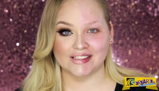 ΑΠΙΣΤΕΥΤΟ: Το πριν και το μετά του μακιγιάζ στο ίδιο πρόσωπο. Δείτε το - Είναι εντυπωσιακό ...