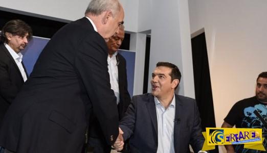 Μεϊμαράκης-Τσίπρας: Ο διάλογος στο debate που δεν έπιασαν οι κάμερες – Αφού θες να με χτυπήσεις…
