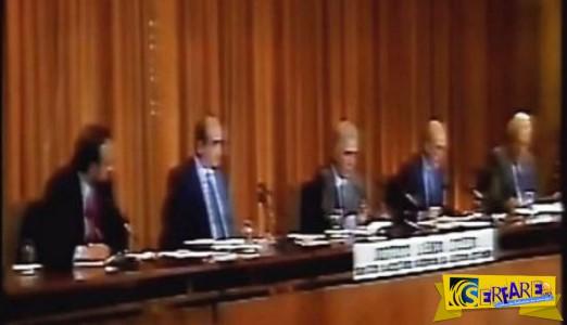 Μητσοτάκης, Παπανδρέου, Φλωράκης στο πρώτο debate της Ελλάδας. Ατάκες που άφησαν εποχή