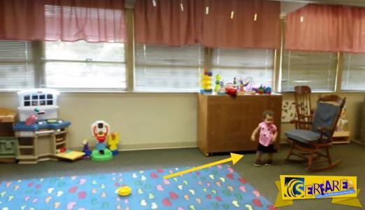 Δείτε την αξιολάτρευτη αντίδραση αυτής της μικρής όταν είδε τον μπαμπά της στο σχολείο