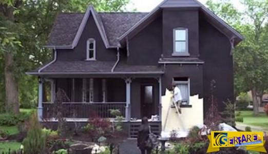 Αυτός ο πατέρας έβαψε ολόκληρο το σπίτι μαύρο! Ο λόγος; Θα σας αφήσει άφωνους