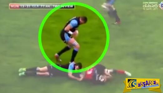 Έβγαλε τον ώμο του κατά τη διάρκεια του αγώνα και τον ξαναέβαλε!