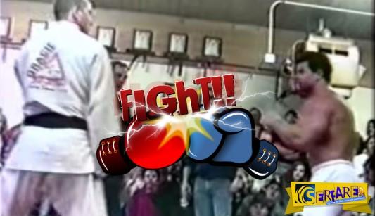 Bodybuilder προκαλεί αθλητή μαύρης ζώνης στο Jui Jitsu!