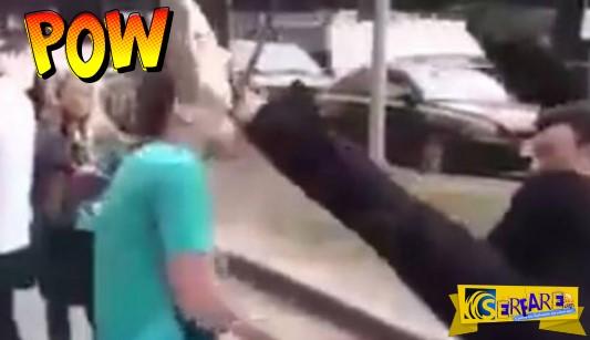 Προσπάθησε να του κάνει bullying και αντέδρασε με κλοτσιά νίντζα!