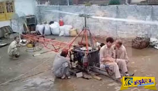 Δεν θα πιστεύετε πως είναι το πακιστανικό homemade ελικόπτερο